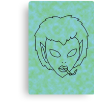 alien grunge girl - transparent Canvas Print