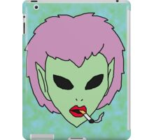 alien grunge girl iPad Case/Skin
