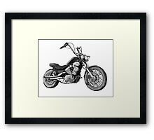 Custom Bike Yamaha 535 Framed Print