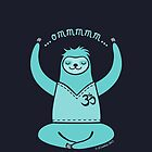 Om Yoga Sloth - blue by zoel