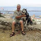Dennis & Kera Overlooking the Marina, Gibraltar by Dennis Melling