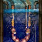 Steampunk - Alphabet - U is for Underwater Utopia by Mike  Savad