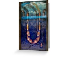 Steampunk - Alphabet - U is for Underwater Utopia Greeting Card