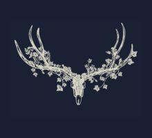 Deer Skull Paper-Cut by thethinks
