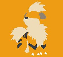 growlithe minimalism pokemon by ferteban