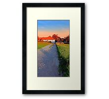 Early summer morning hiking trip | landscape photography Framed Print