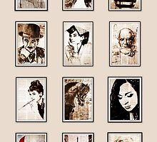 Calendar old book drawing famous people by Palluch Atelier