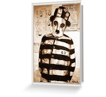 old book drawing famous charles chaplin Greeting Card