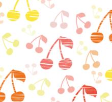 Funny Fresh Cherry Background Sticker