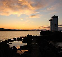 Port Ellen Lighthouse Sunrise by Jonathan Cox