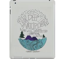 Einstein: Nature iPad Case/Skin