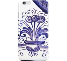 Porcelain Flower Decoration in Blue iPhone Case/Skin