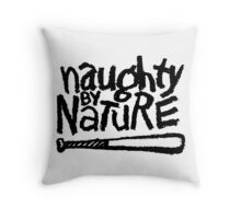 Naughty by Nature (black) Throw Pillow