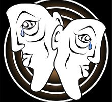 Two Faces Crying in Brown with Three Rings by MontanaJack
