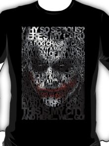 Halloween Black and white Clown typograph T-Shirt