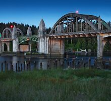 Siuslaw River Bridge by Ken McDougal