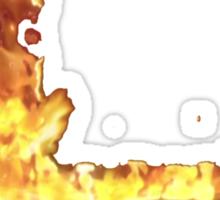 Super smash bros - Flames Sticker