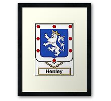 Henley Coat of Arms (English) Framed Print