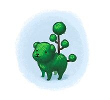 Topiary Dog by amandaflagg