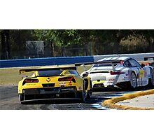Corvette vs Porsche- Sebring 2014 Photographic Print
