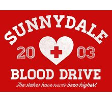 Sunnydale Blood Drive Photographic Print