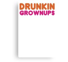 Drunkin Grownups - Funny Dunkin Donuts DD Parody T Shirt Alcohol Beer Coffee Tee Shirt S, M, L, XL, 2XL, 3XL, Brand New 2013 Mens T shirts Canvas Print