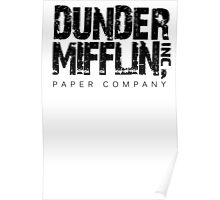 DUNDER MIFFLIN TSHIRT Funny Humor THE OFFICE TEE Paper COMPANY Dwight Humorous Poster