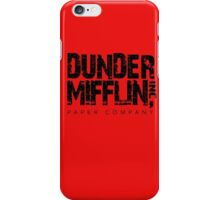 DUNDER MIFFLIN TSHIRT Funny Humor THE OFFICE TEE Paper COMPANY Dwight Humorous iPhone Case/Skin