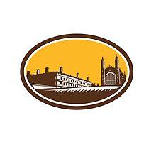 King's College University of Cambridge Woodcut by patrimonio