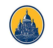 Dome of Sacre Coeur Basilica Paris Retro by patrimonio