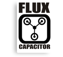 FLUX CAPACITOR TSHIRT Funny BACK TO THE FUTURE TEE Humor 80s DOC BROWN Marty VTG Canvas Print