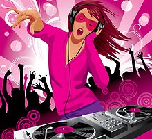Beautiful DJ girl by maystra