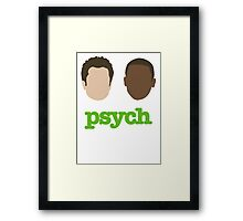 Faces of Psych Framed Print