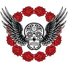 Skull Wings & Roses by fantasytripp