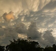 Sky Painting - Mammatus Clouds After A Storm by Georgia Mizuleva