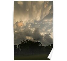 Sky Painting - Mammatus Clouds After A Storm Poster