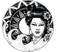 geisha girl mandala by litedawn