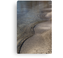 Lakeshore Tranquility - the Slowly Curling Wave Canvas Print