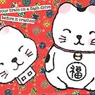 The Forgetful Lucky Cat by dosankodebbie