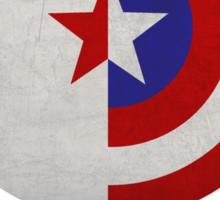 Cap and Bucky Black Text Sticker