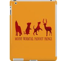 Moony, Wormtail, Padfoot and Prongs iPad Case/Skin