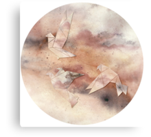 Pastel Origami Birds Canvas Print