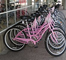 Pink Bicycles by Marie Van Schie
