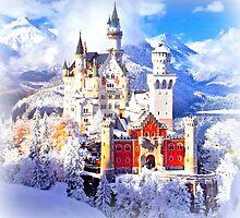 Neuschwanstein castle in winter by ©The Creative  Minds