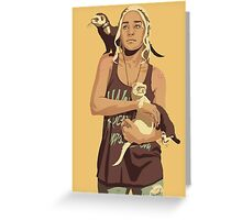 GAME OF THRONES 80/90s ERA CHARACTERS - Daenerys Targaryen Greeting Card