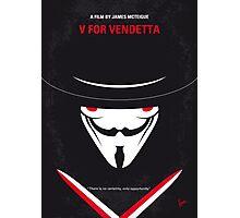 No319 My V for Vendetta minimal movie poster Photographic Print