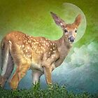 Portrait Of A Fawn by TOM YORK