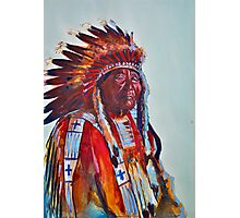 Crazy Head, Cheyenne Chief Photographic Print