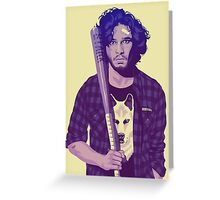 GAME OF THRONES 80/90s ERA CHARACTERS - Jon Snow Greeting Card