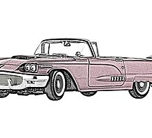 1958 Ford Thunderbird convertible by surgedesigns